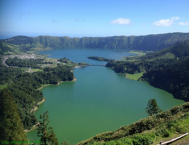 the two crater lakes of Sete Cidades