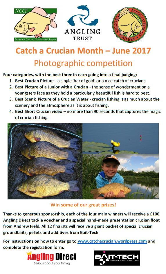 Register now for Catch a Crucian Month