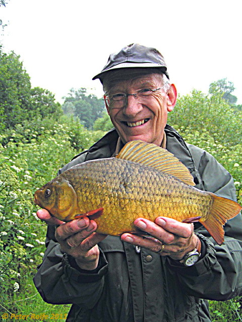 Peter Rolfe with a good Crucian Carp